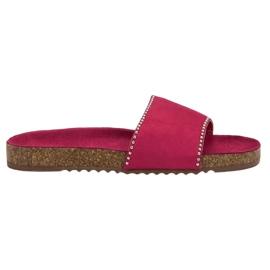 Goodin Flip de gamuza rosa
