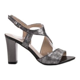 Goodin gris Sandalias de plata