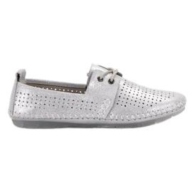 Gris Zapatos de piel VINCEZA