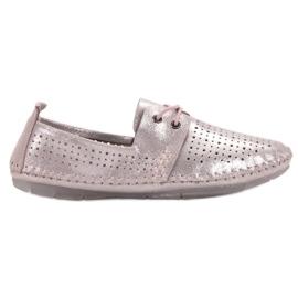 Zapatos de piel VINCEZA rosa