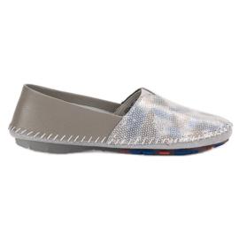 Goodin gris Zapatillas de cuero