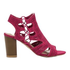 Goodin rosa Sandalias de moda fucsia