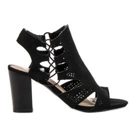 Goodin Sandalias negras de moda negro