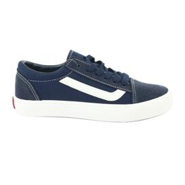 AlaVans Atletico 18081 zapatillas atadas azul marino