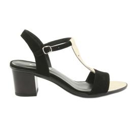 Sandalias para mujer Anabelle 1447 negro / dorado