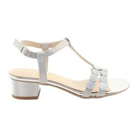 Sandalias mujer rayas Gamis 3661 gris perla