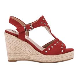 Kylie rojo Sandalias con chorros