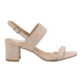 Ideal Shoes marrón Sandalias de moda de las mujeres