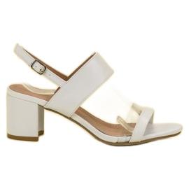 Ideal Shoes blanco Sandalias de moda de las mujeres