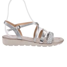 Kylie gris Sandalias de plata en la plataforma