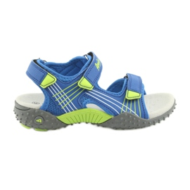 Sandałki chłopięce American Club HL16 azul / lima