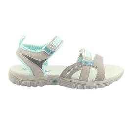 Sandalias para niña American Club HL14 gris / menta