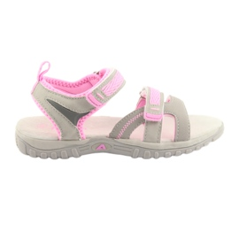 Sandalias para niña American Club gris / rosa