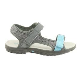 Sandalias con inserto en piel American Club RL10 gris / azul