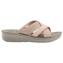 Evento rosa Zapatillas cómodas en polvo