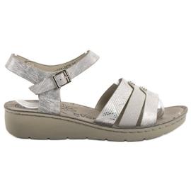 Evento gris Sandalias de plata