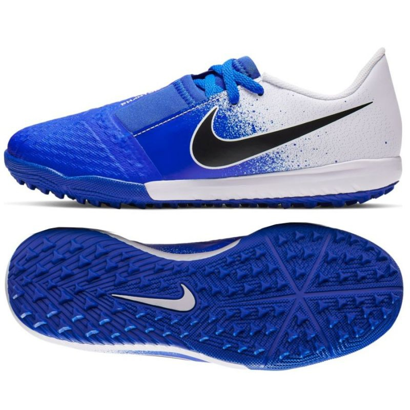 Calzado de fútbol Nike Phantom Venom Academy Tf Jr AO0377 104 blanco, azul azul