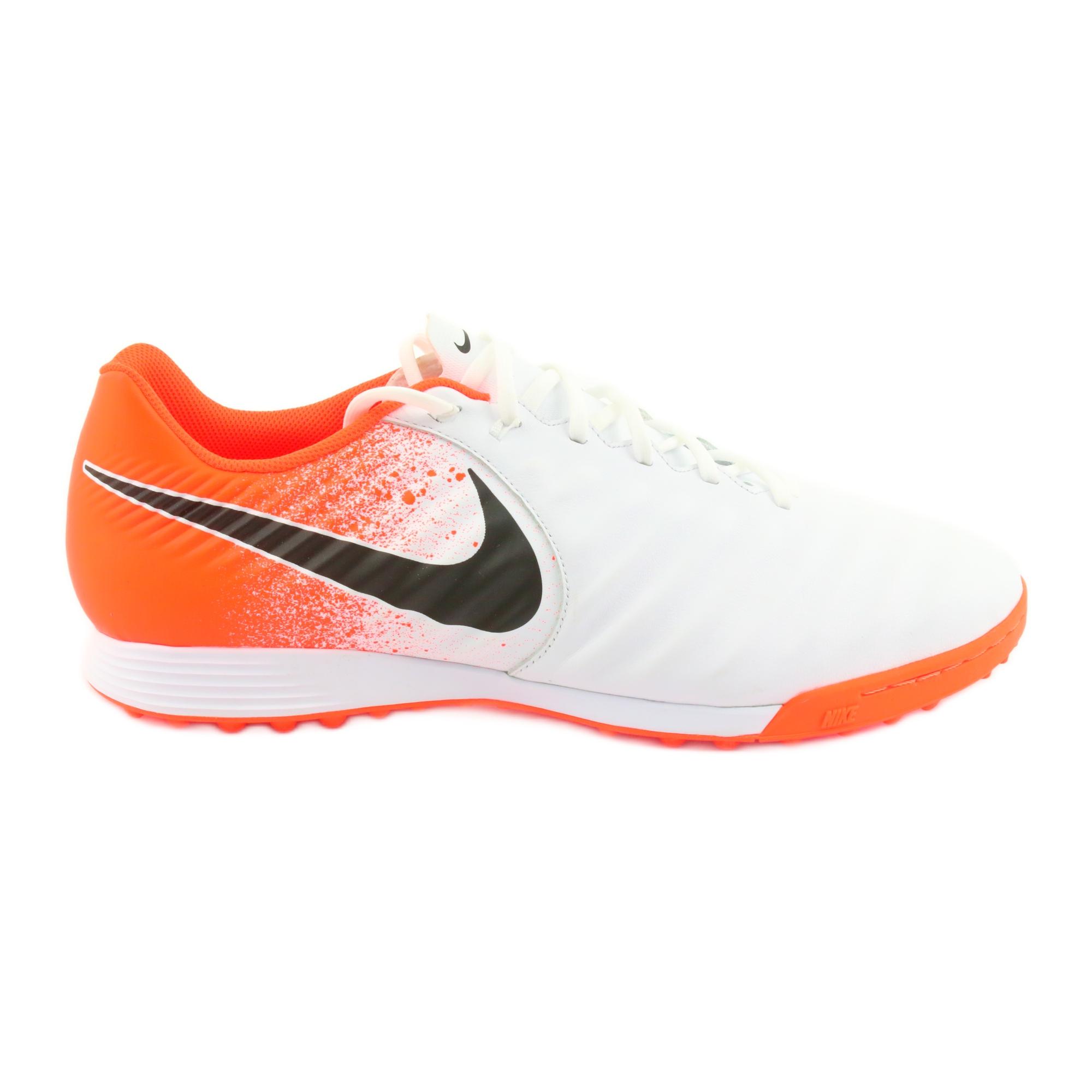 Zapatillas de fútbol Nike Tiempo LegendX 7 Academy Tf M AH7243 118 blanco naranja blanco