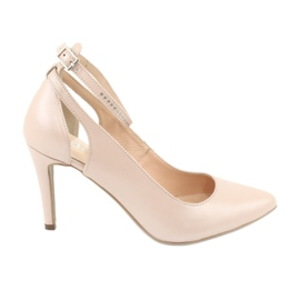 Marrón Zapatos de mujer Edeo 3212 perla beige.