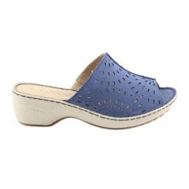 Azul Zapatillas de mujer koturno caprice 27351 jeans