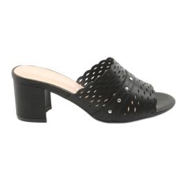 Negro Zapatillas negras de mujer Sergio Leone KL319