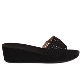 Negro Zapatillas negras caladas JS-03 negras