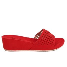 Rojo Zapatillas caladas rojas JS-03 rojas.