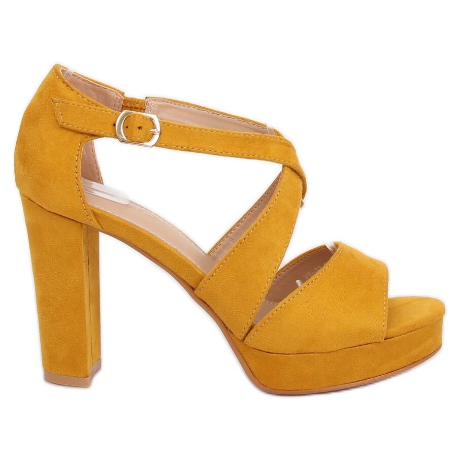 Plataforma Amarillo La 23 Sandalias En Amarilla Vv XuOPkZi