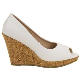 Blanco Zapatos de plataforma de punta abierta VICES