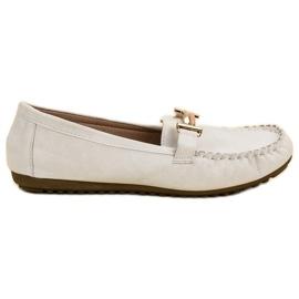Top Shoes Mocasines de las mujeres blancas blanco