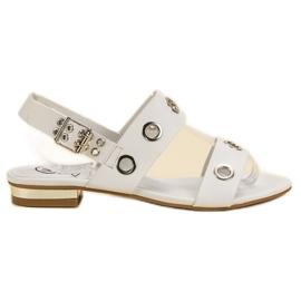 Kylie blanco Sandalias blancas casuales