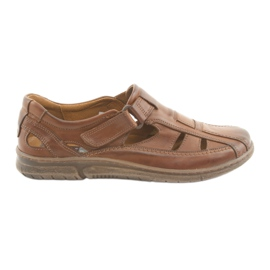 Sandalias de confort Riko 458 marrón para hombre