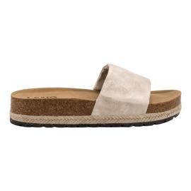 Kylie marrón Zapatillas Beige Brillantes