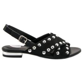 Kylie negro Sandalias negras abrochadas con una hebilla.
