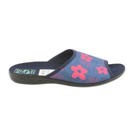 Zapatillas de mujer en flores azul marino Adanex.