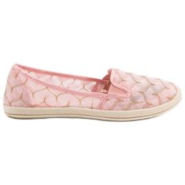 Zapatillas rosa deslizarse en vices