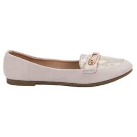 Top Shoes Bailarina con estilo gris