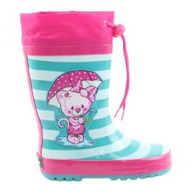 American Club Botas de lluvia infantiles americanas gatito
