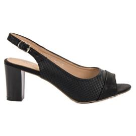 Evento negro Elegantes sandalias negras