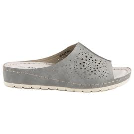 Zapatillas de mujer Goodin calado gris