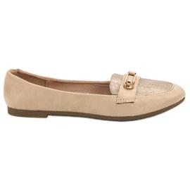 Top Shoes Bailarina con estilo marrón