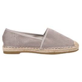 Ideal Shoes gris Zapatillas de gamuza