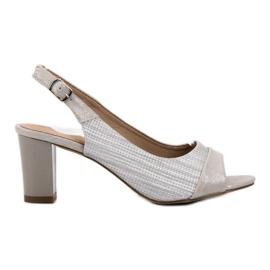 Evento gris Elegantes sandalias de plata