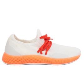 Calzado deportivo blanco-naranja B-6851 naranja
