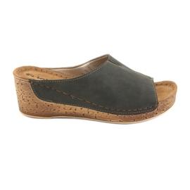 Zapatillas de mujer Inblu NG002 negro marrón