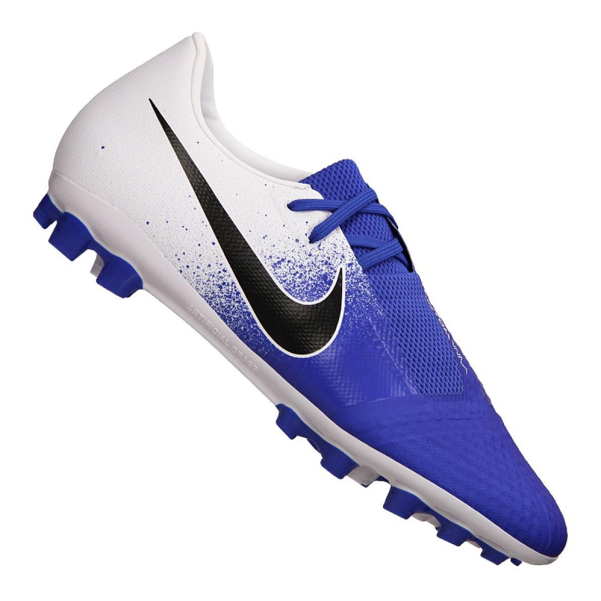 Zapatillas de fútbol Nike Phantom Vnm Academy AG R M AV3038 104 blanco, azul azul