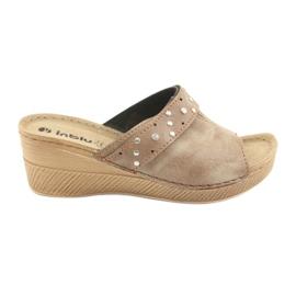 Zapatillas de mujer Inblu OS007 marrón