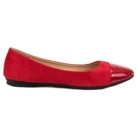 Comer rojo Bailarinas rojas de moda