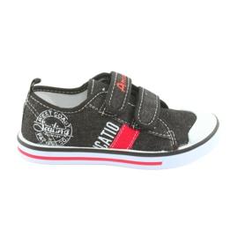 Zapatillas de deporte de velcro American Club jeans negros