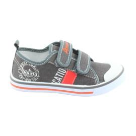 Zapatillas de deporte de velcro American Club gris jeans